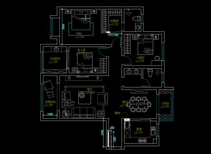 一品家苑105.0平米三居美式其他装修效果图